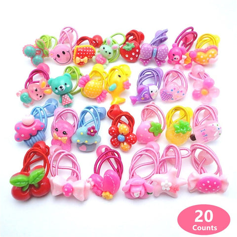 20 pcs (10 pairs)  Cartoon Kids Hair Accessories