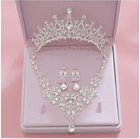 3PCS Rhinestone Crystal Bridal Jewelry Sets