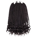 "Silike 12"" 24 strands Loose End Box Braids Crotchet Braid Hair Extensions"