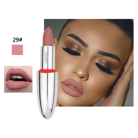 Matte Lipstick Lips  Nude Brown Lips Makeup Matt Long Lasting Lipsticks