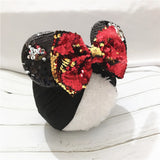 Baby Minnie Mouse Ears Hairband With Sequin Hair Bows Photography Props cap