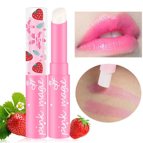 Magic Strawberry Changing Color Lipstick Moisturizer Waterproof Lip Cream Lipstick