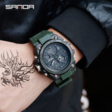 2019 New SANDA 739 Sports Men's Watches Top Brand Luxury Military Quartz Watch Men Waterproof S Shock Clock relogio masculino