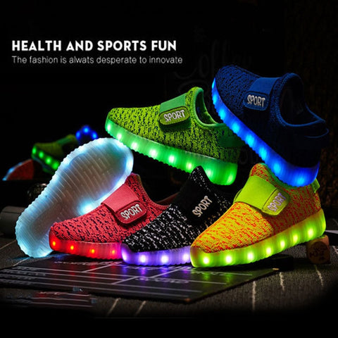 Children's Glowing Sneakers Kids Led Iuminous Shoes