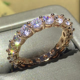 Drop Shipping High Quality Classical Luxury Jewelry Wedding Crown Ring Set