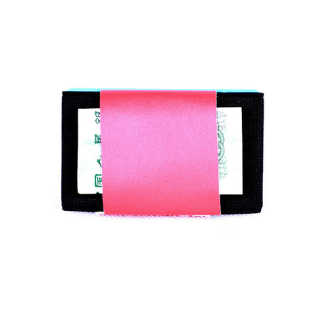 Elastic Card Holder Small Credit Card Holder with Cash Coin Purse