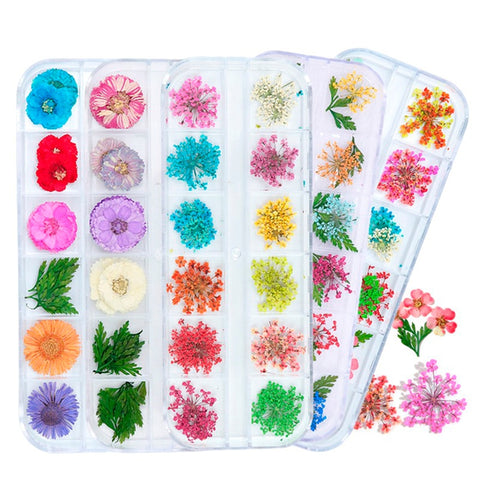 Decoration Natural Floral Sticker 3D Dry Beauty Nail Art Decals Jewelry