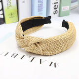 Style Solid Knotted Handmade Hairbands Hair Accessories