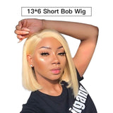 Blonde Short Bob Wigs Lace Face Human Hair wig for Women