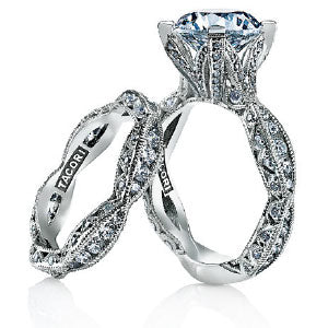 Tacori Engagement ring and band