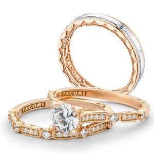 Tacori engagement ring and bands