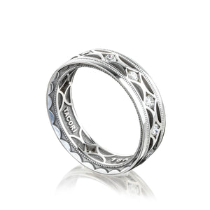 Tacori Sculpted Crescent Diamond Wedding Band (0.8  CTW)