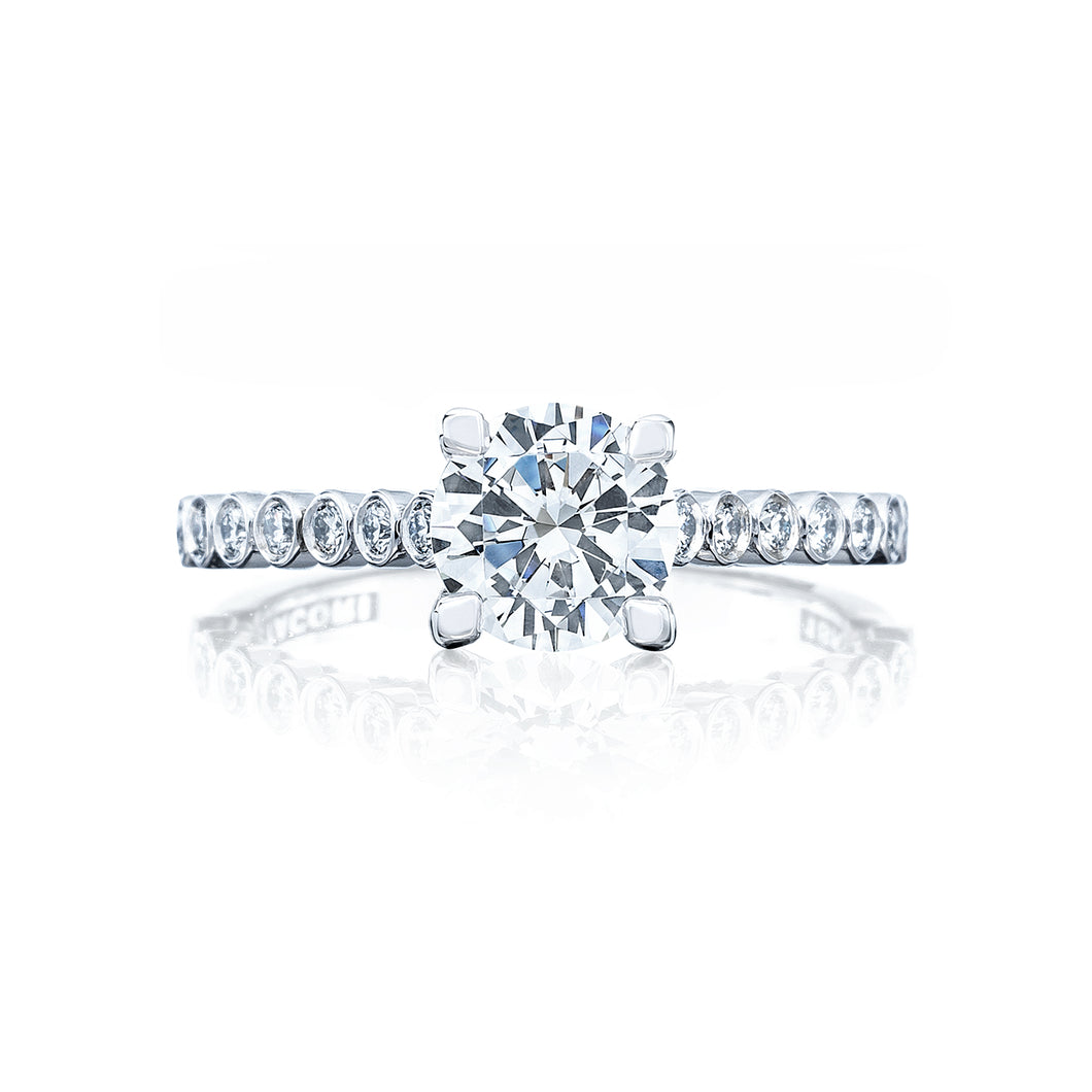 Tacori Sculpted Crescent Round Diamond Engagement Ring (0.2 CTW)