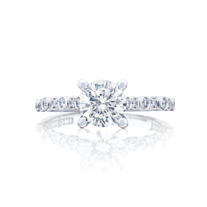 Tacori Sculpted Crescent Round Diamond Engagement Ring (0.18 CTW)