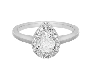 Complete White Gold Engagement Ring