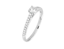 Load image into Gallery viewer, Complete Rings White Gold with 0.24 CTW Round Diamond Diamond Center Stone Classic Engagement Ring