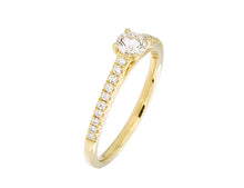 Load image into Gallery viewer, Complete Rings Yellow Gold with 0.24 CTW Round Diamond Diamond Center Stone Classic Engagement Ring