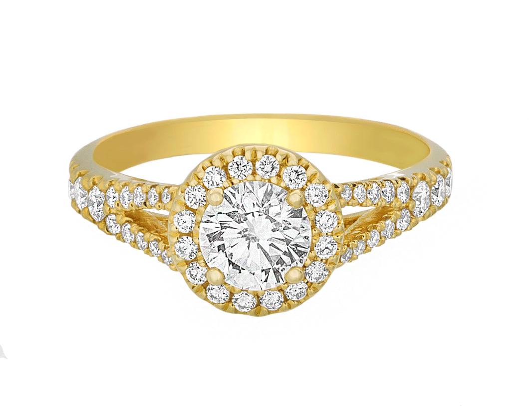 Complete Yellow Gold Engagement Ring
