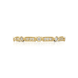 Tacori Sculpted Crescent Diamond Wedding Band (0.15 CTW)