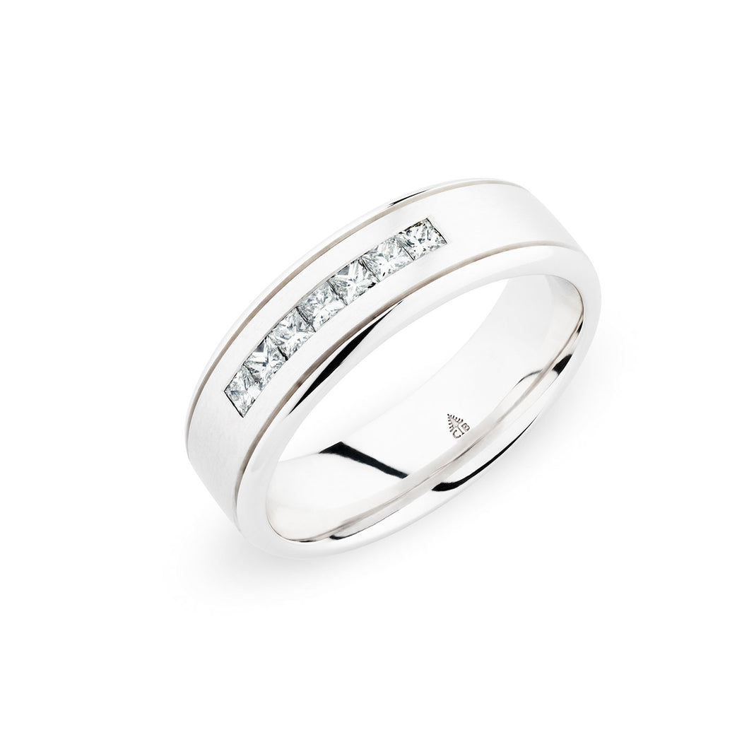 Christian Bauer White Diamond White Gold Wedding Band (.35 CTW)
