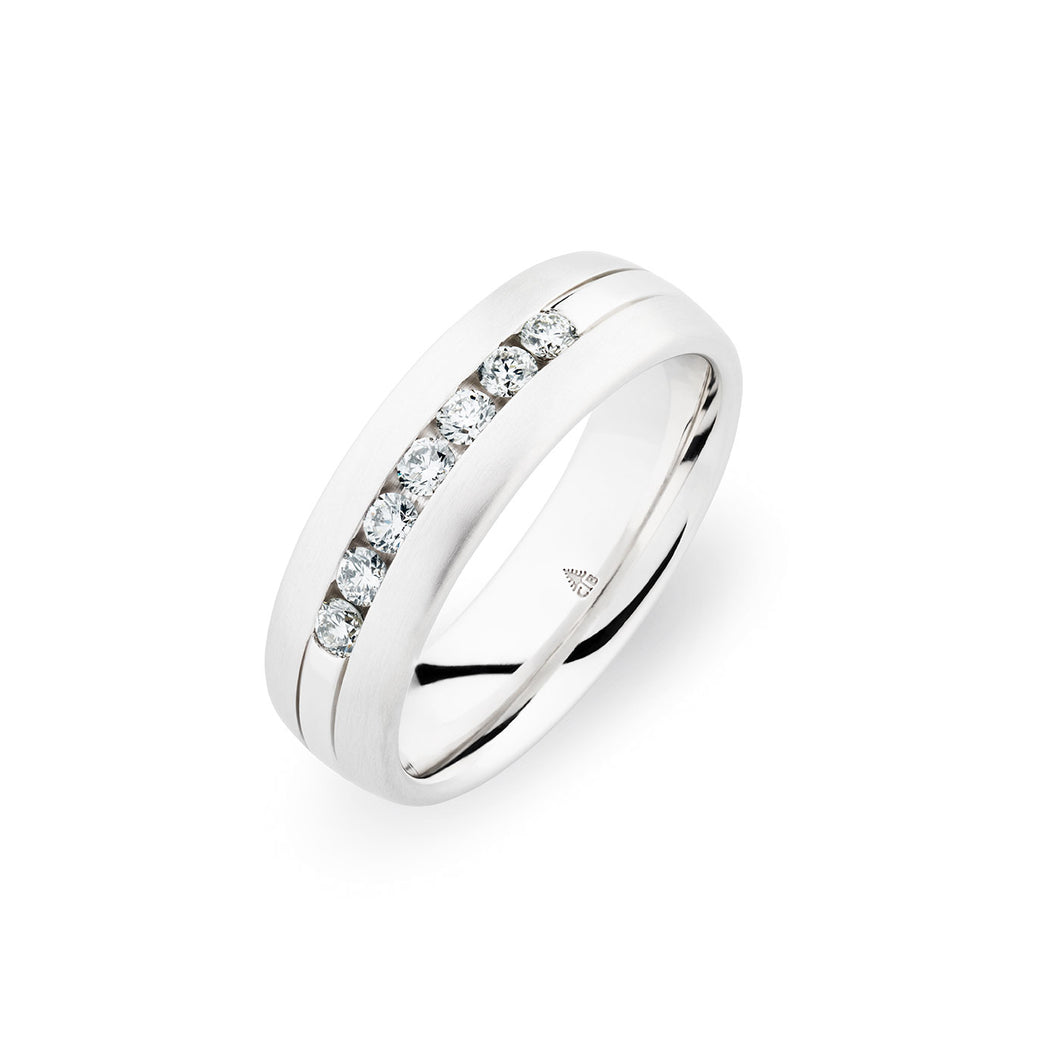 Christian Bauer White Diamond White Gold Wedding Band (.31 CTW)