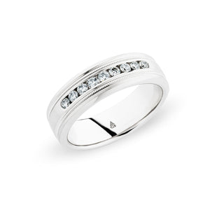 Christian Bauer White Diamond Palladium Wedding Band (.32 CTW)