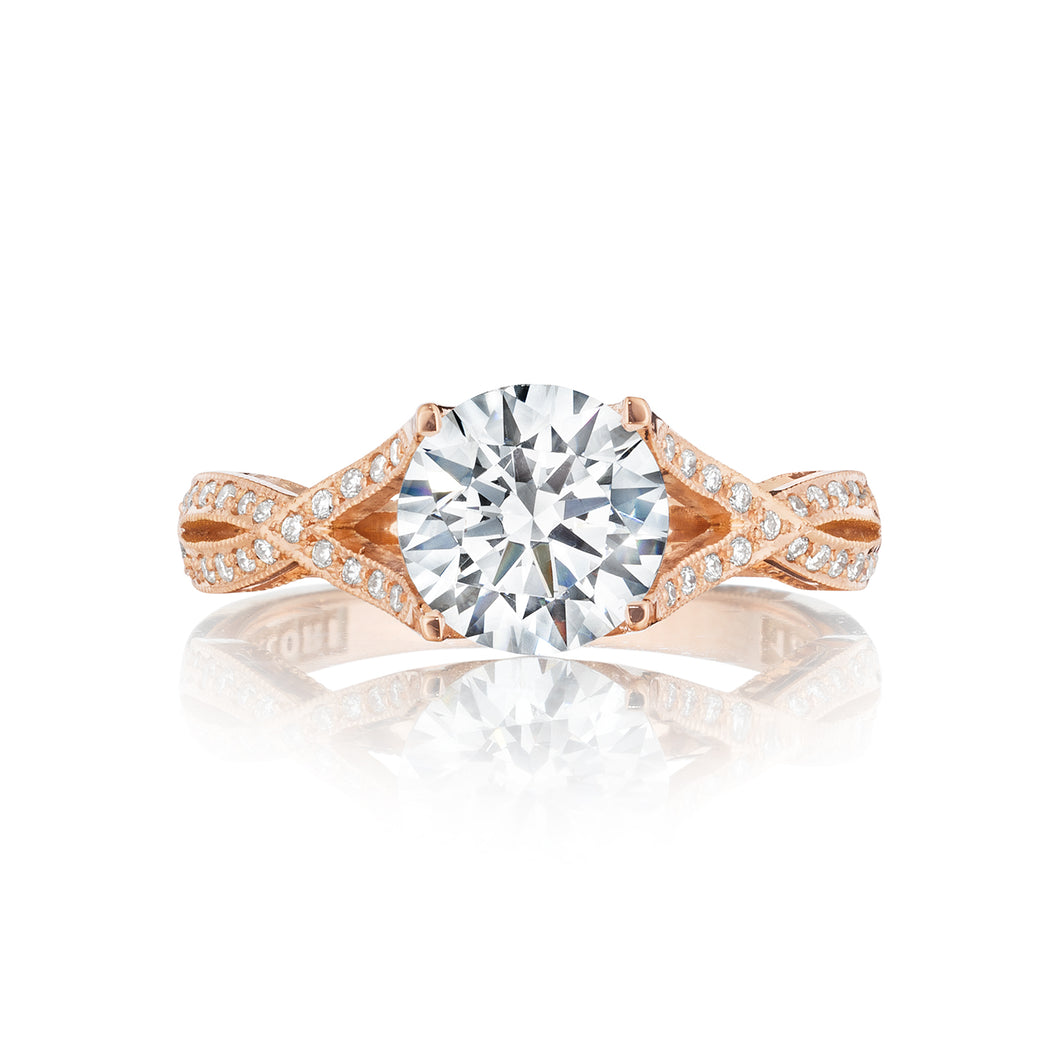Tacori Ribbon Round Diamond Engagement Ring (0.75 CTW)