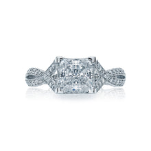 Load image into Gallery viewer, Tacori Ribbon Princess Diamond Engagement Ring (0.75 CTW)