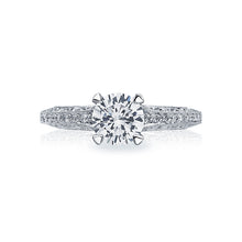 Load image into Gallery viewer, Tacori Classic Crescent Round Diamond Engagement Ring (0.5 CTW)