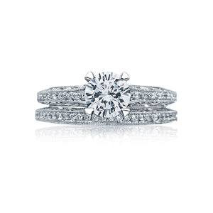 Tacori Classic Crescent Round Diamond Engagement Ring (0.5 CTW)