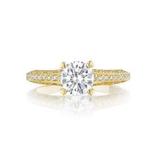 Load image into Gallery viewer, Tacori Classic Crescent Round Diamond Engagement Ring (0.22 CTW)
