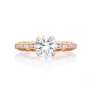 Tacori Reverse Crescent Round Diamond Engagement Ring (0.25 CTW)