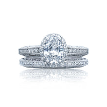 Load image into Gallery viewer, Tacori Reverse Crescent Oval Diamond Engagement Ring (0.51 CTW)