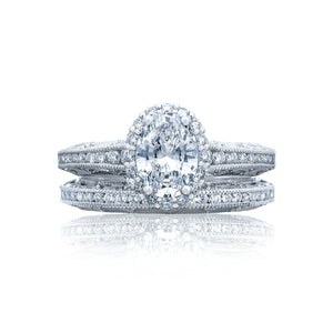 Tacori Reverse Crescent Oval Diamond Engagement Ring (0.51 CTW)
