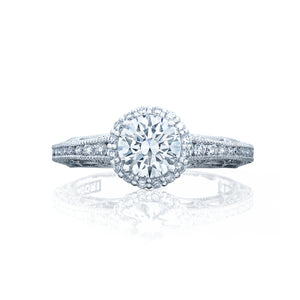 Tacori Reverse Crescent Round Diamond Engagement Ring (0.37 CTW)