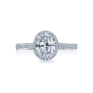 Tacori Dantela Oval Diamond Engagement Ring