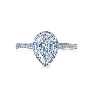 Tacori Dantela Pear Diamond Engagement Ring (0.39 CTW)