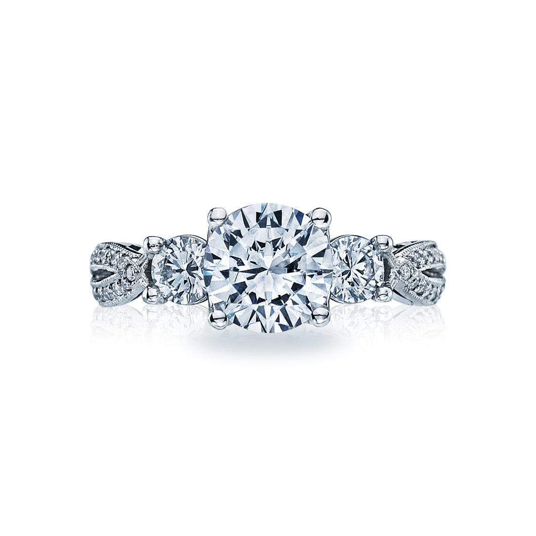 Tacori Ribbon Round Diamond Engagement Ring (0.65 CTW)