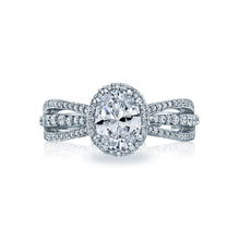 Load image into Gallery viewer, Tacori Dantela Oval Diamond Engagement Ring (0.52 CTW)