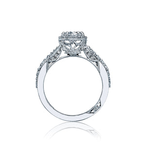 Tacori Dantela Oval Diamond Engagement Ring (0.52 CTW)