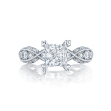 Load image into Gallery viewer, Tacori Classic Crescent Princess Diamond Engagement Ring (0.77 CTW)