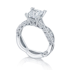 Tacori Classic Crescent Princess Diamond Engagement Ring (0.77 CTW)