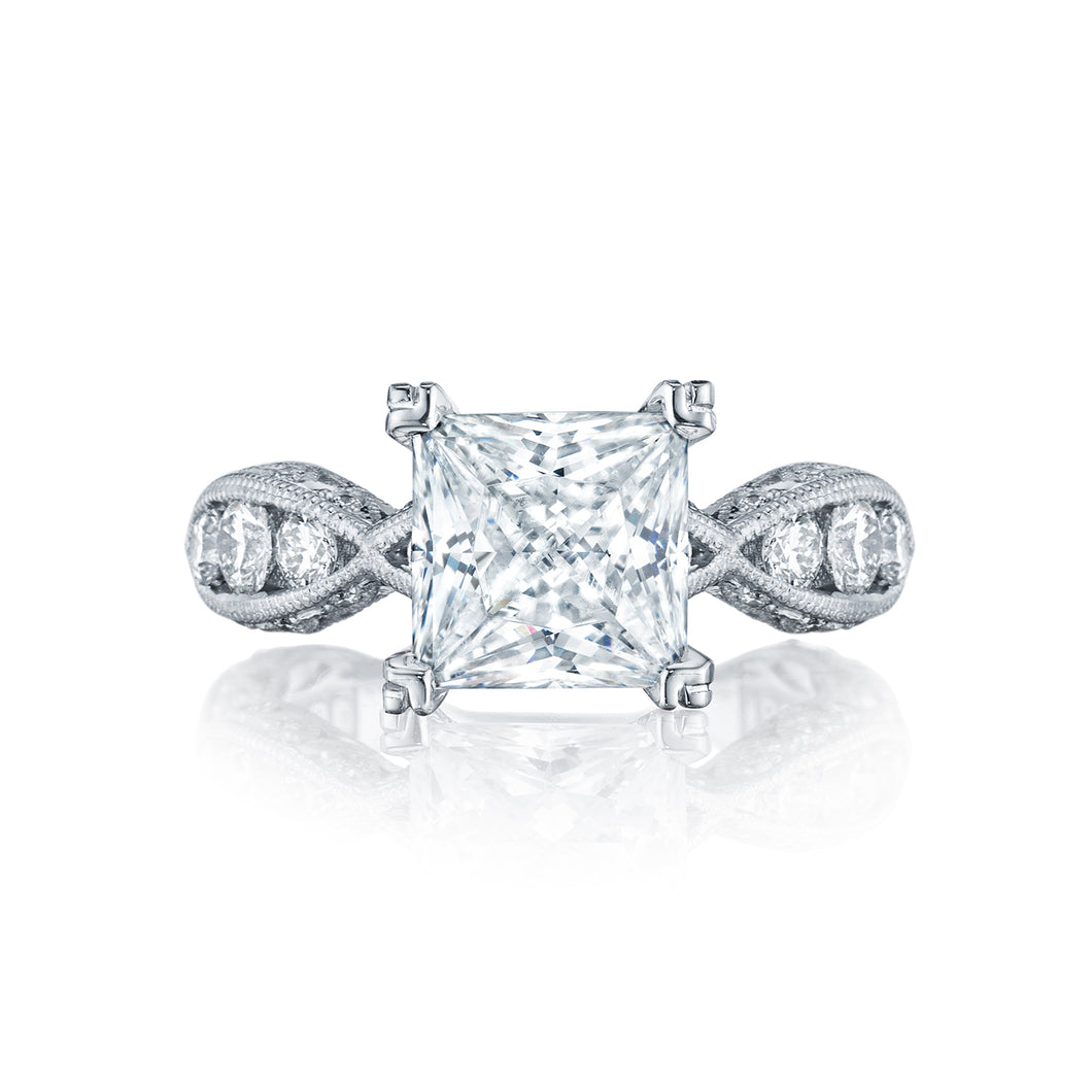 Tacori Classic Crescent Princess Diamond Engagement Ring (1.35 CTW)