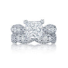 Load image into Gallery viewer, Tacori Classic Crescent Princess Diamond Engagement Ring (1.35 CTW)