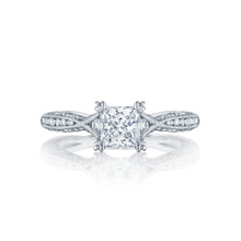Load image into Gallery viewer, Tacori Classic Crescent Princess Diamond Engagement Ring (0.41 CTW)