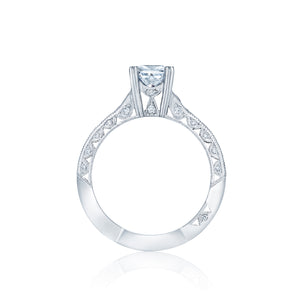 Tacori Classic Crescent Princess Diamond Engagement Ring (0.41 CTW)