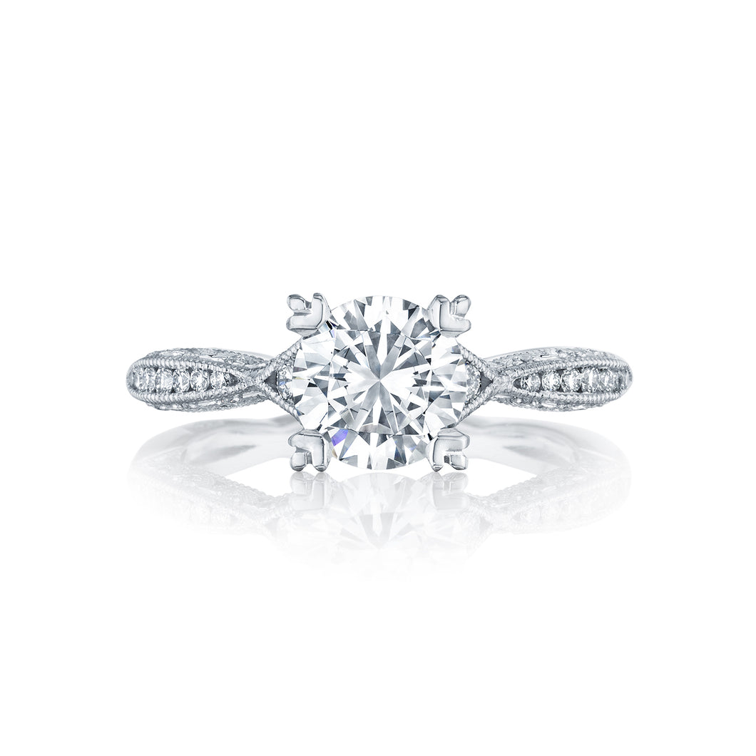 Tacori Classic Crescent Round Diamond Engagement Ring (0.28 CTW)