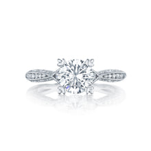Load image into Gallery viewer, Tacori Classic Crescent Round Diamond Engagement Ring (0.28 CTW)