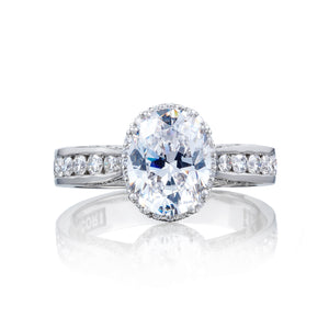 Tacori Dantela Oval Diamond Engagement Ring (0.6 CTW)