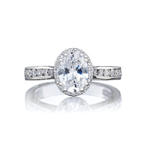 Tacori Dantela Oval Diamond Engagement Ring (0.51 CTW)